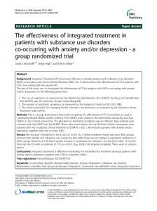 or depression - a group randomized trial