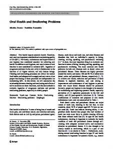 Oral Health and Swallowing Problems