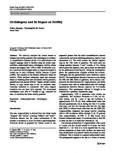 Orchidopexy and its impact on fertility
