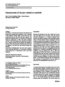Osteonecrosis of the jaw related to sunitinib