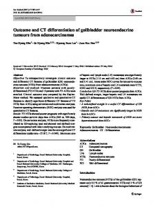 Outcome and CT differentiation of gallbladder neuroendocrine tumours from adenocarcinomas