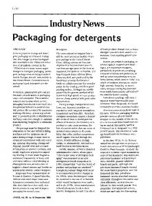 Packaging for detergents