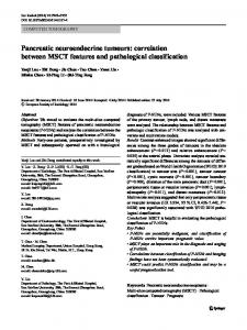 Pancreatic neuroendocrine tumours: correlation between MSCT features and pathological classification