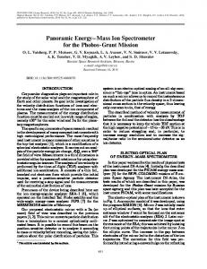 Panoramic energy-mass ion spectrometer for the Phobos-Grunt mission