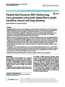 Parallel tiled Nussinov RNA folding loop nest generated using both dependence graph transitive closure and loop skewing