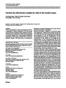 Particle size distribution models for soils of the humid tropics