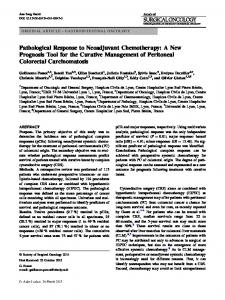 Pathological Response to Neoadjuvant Chemotherapy: A New Prognosis Tool for the Curative Management of Peritoneal Colorectal Carcinomatosis