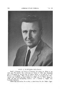 Paul J. Eastman honored