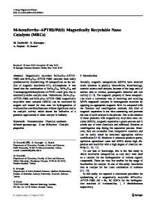Pd(0) Magnetically Recyclable Nano Catalysts (MRCs)