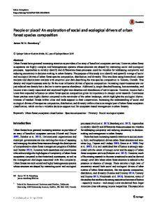People or place? An exploration of social and ecological drivers of urban forest species composition