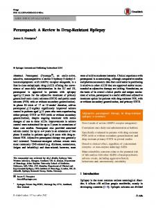 Perampanel: A Review in Drug-Resistant Epilepsy