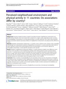 Perceived neighborhood environment and physical activity in 11 countries: Do associations differ by country?