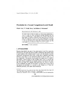 Percolation in a Voronoi Competition-Growth Model