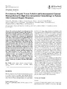 Percutaneous hepatic venous isolation and extracorporeal charcoal hemoperfusion for high-dose intraarterial chemotherapy in patients with colorectal hepatic metastases