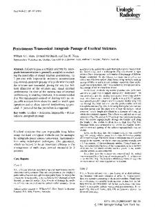 Percutaneous transvesical antegrade passage of urethral strictures