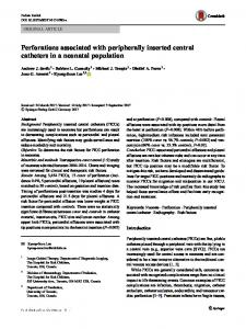 Perforations associated with peripherally inserted central catheters in a neonatal population