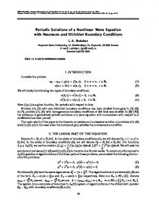 Periodic solutions of a nonlinear wave equation with Neumann and Dirichlet boundary conditions