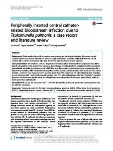 Peripherally inserted central catheter-related bloodstream infection due to Tsukamurella pulmonis: a case report and literature review