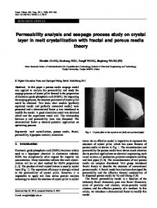 Permeability analysis and seepage process study on crystal layer in melt crystallization with fractal and porous media theory
