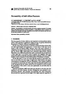 Permeability of Self-Affine Fractures