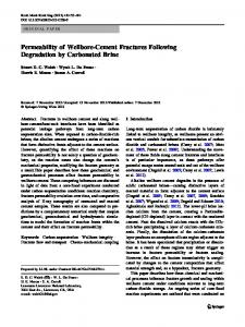Permeability of Wellbore-Cement Fractures Following Degradation by Carbonated Brine