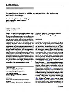 Personality and health in middle age as predictors for well-being and health in old age