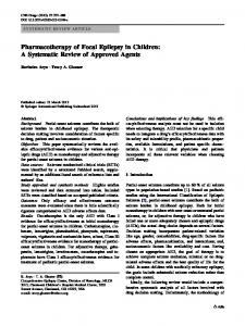 Pharmacotherapy of Focal Epilepsy in Children: A Systematic Review of Approved Agents