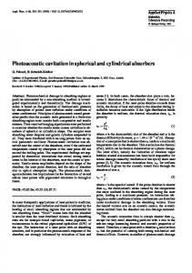 Photoacoustic cavitation in spherical and cylindrical absorbers