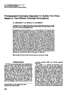 Photoassisted Chemically Deposited Tin Sulfide Thin Films Based on Two Different Chemical Formulations