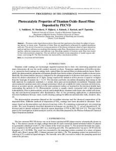 Photocatalytic properties of titanium oxide-based films deposited by PECVD