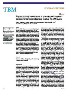 Physical activity interventions to promote positive youth development among indigenous youth: a RE-AIM review