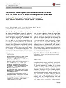 Physical and thermal properties of mud-dominant sediment from the Joetsu Basin in the eastern margin of the Japan Sea