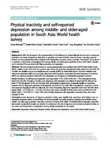 Physical inactivity and self-reported depression among middle- and older-aged population in South Asia: World health survey