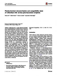 Physicochemical characterization and compatibility study of roflumilast with various pharmaceutical excipients