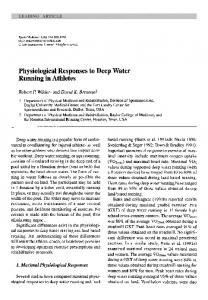 Physiological Responses to Deep Water Running in Athletes