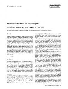 Phytoplankton patchiness and frontal regions