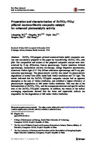 pillared montmorillonite composite catalyst for enhanced photocatalytic activity