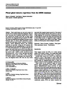 Pineal gland tumors: experience from the SEER database