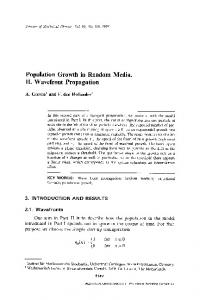 Population growth in random media