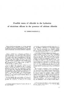 Possible states of chloride in the hydration of tricalcium silicate in the presence of calcium chloride