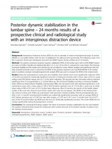 Posterior dynamic stabilization in the lumbar spine – 24months results of a prospective clinical and radiological study with an interspinous distraction device