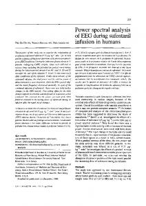 Power spectral analysis of EEG during sufentanil infusion in humans