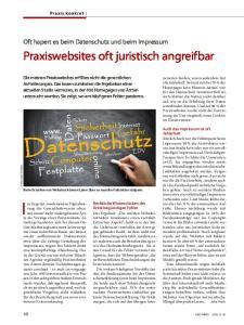 Praxiswebsites oft juristisch angreifbar