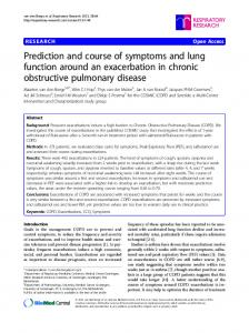 Prediction and course of symptoms and lung function around an exacerbation in chronic obstructive pulmonary disease