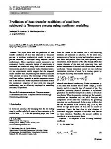 Prediction of heat transfer coefficient of steel bars subjected to Tempcore process using nonlinear modeling