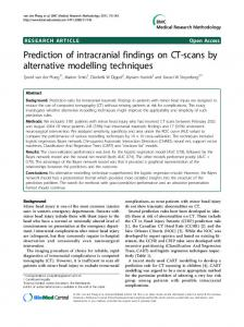 Prediction of intracranial findings on CT-scans by alternative modelling techniques