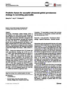 Predictive factors for successful ultrasound-guided percutaneous drainage in necrotizing pancreatitis