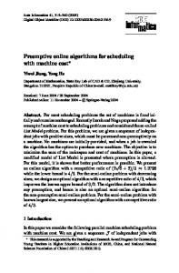 Preemptive online algorithms for scheduling with machine cost