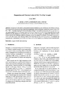 Preparation and characterization of SiO2 two-step aerogels
