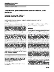 Preparation of epoxy monoliths via chemically induced phase separation